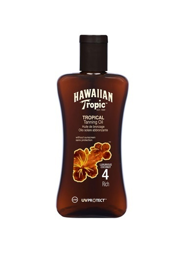 Hawaiian Tropic Protective Tanning Oil Spf4 200Ml Renksiz